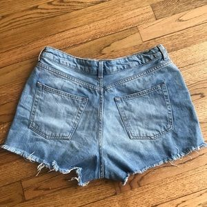 Topshop Shorts - Topshop Moto Mom Ripped Shorts